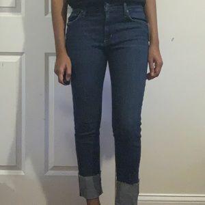 Joe's jeans cuff crop